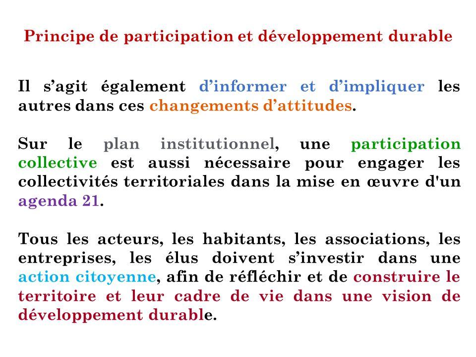 Principe de participation et développement durable