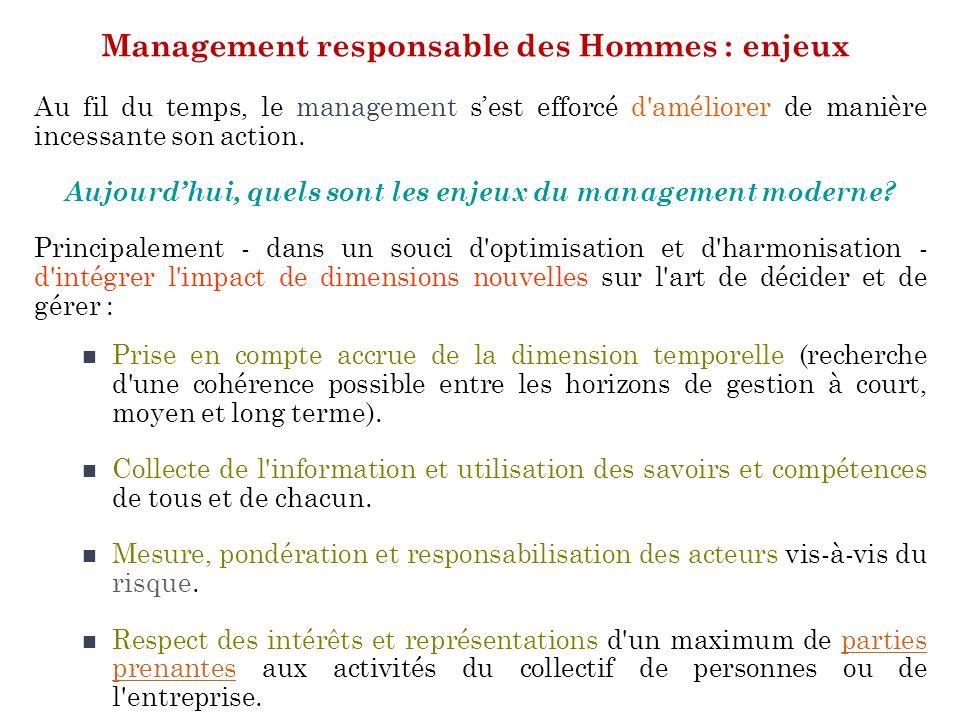 Management responsable des Hommes : enjeux
