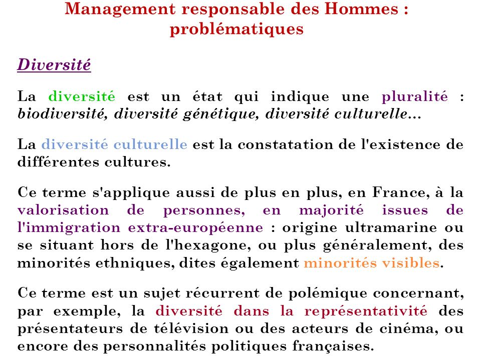 management responsable