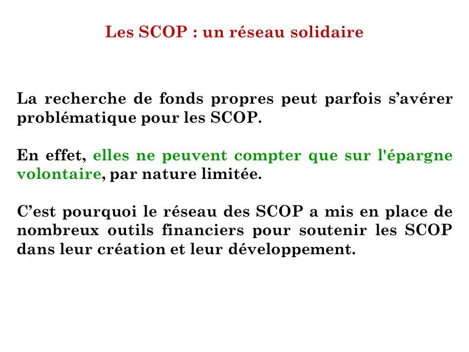Les SCOP : un réseau solidaire