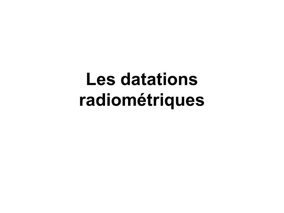 Les datations radiométriques