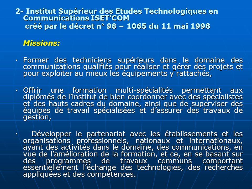 2- Institut Supérieur des Etudes Technologiques en Communications ISET'COM