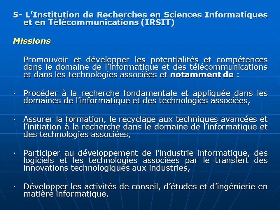 5- L'Institution de Recherches en Sciences Informatiques et en Télécommunications (IRSIT)