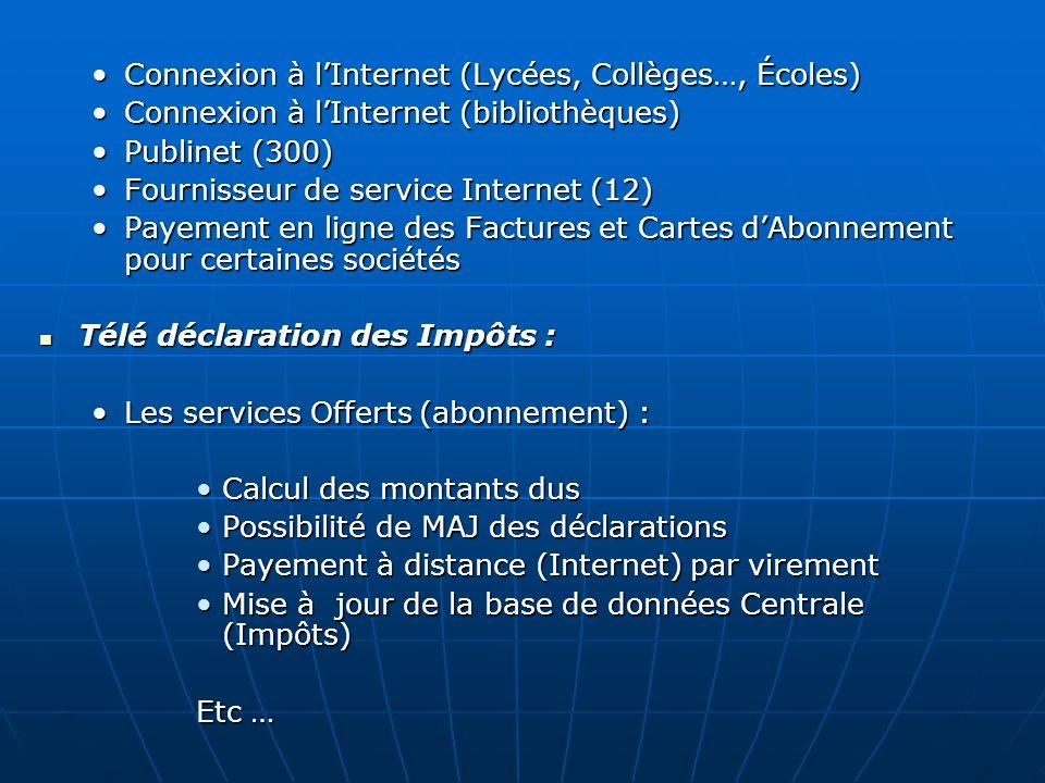 Connexion à l'Internet (Lycées, Collèges…, Écoles)