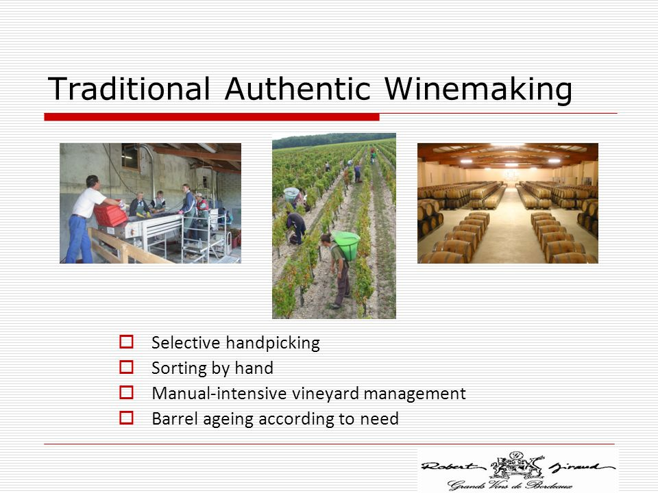 Traditional Authentic Winemaking