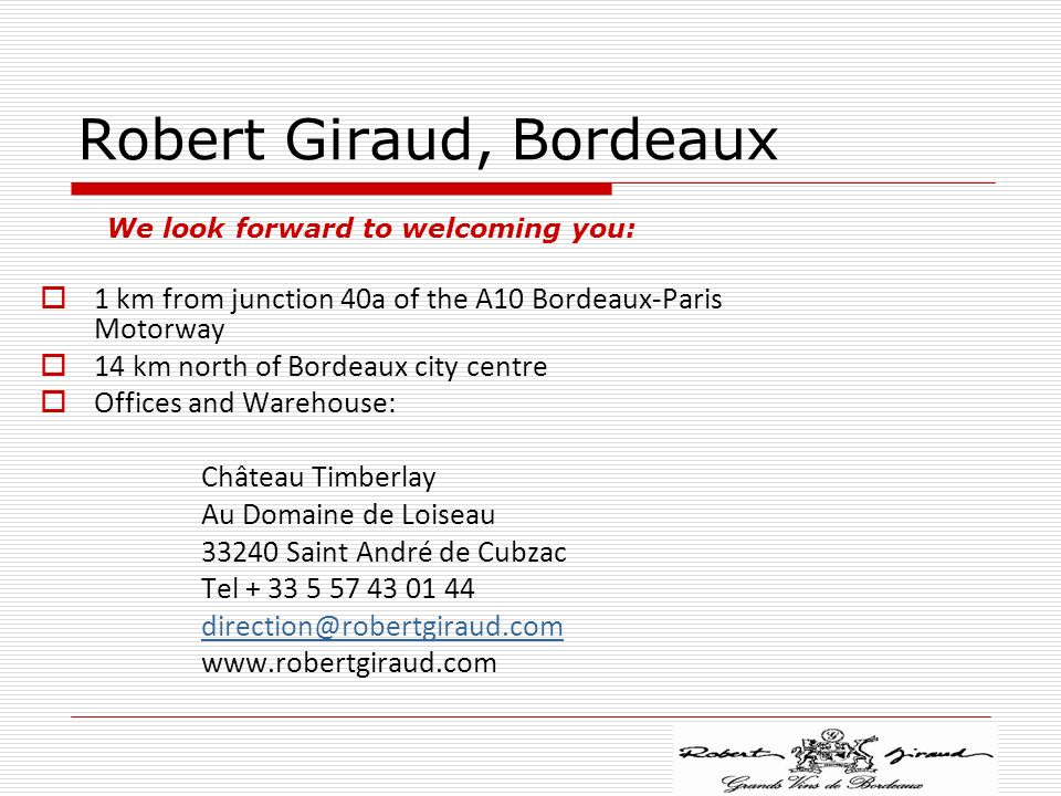 Robert Giraud, Bordeaux