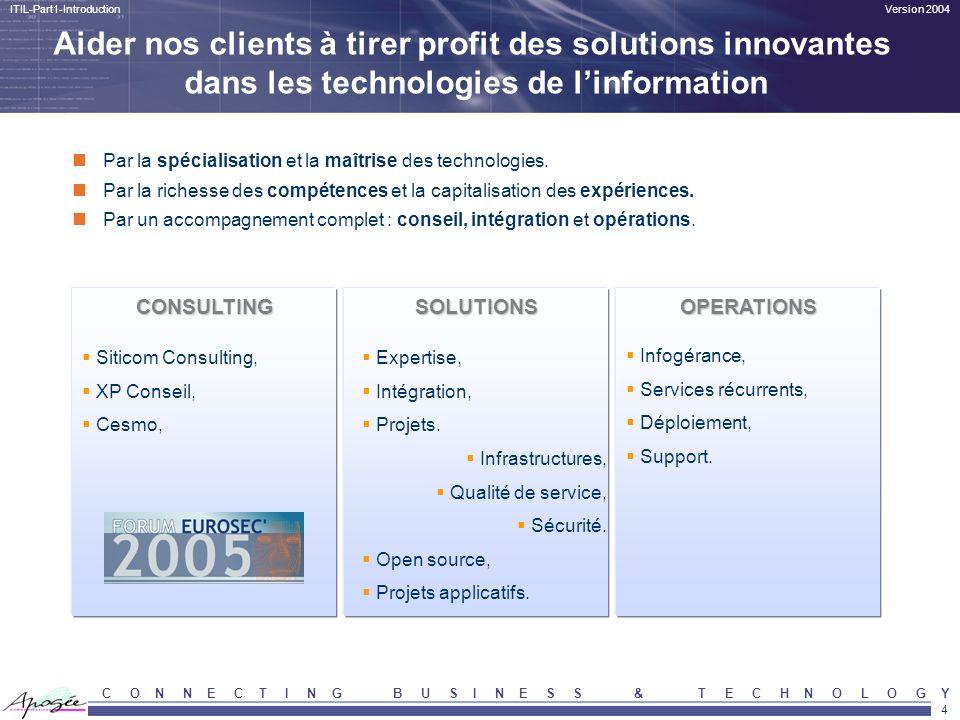 Aider nos clients à tirer profit des solutions innovantes