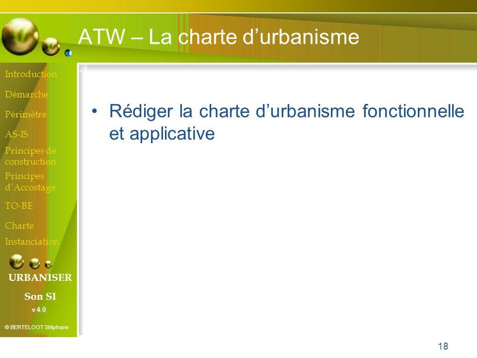 ATW – La charte d'urbanisme