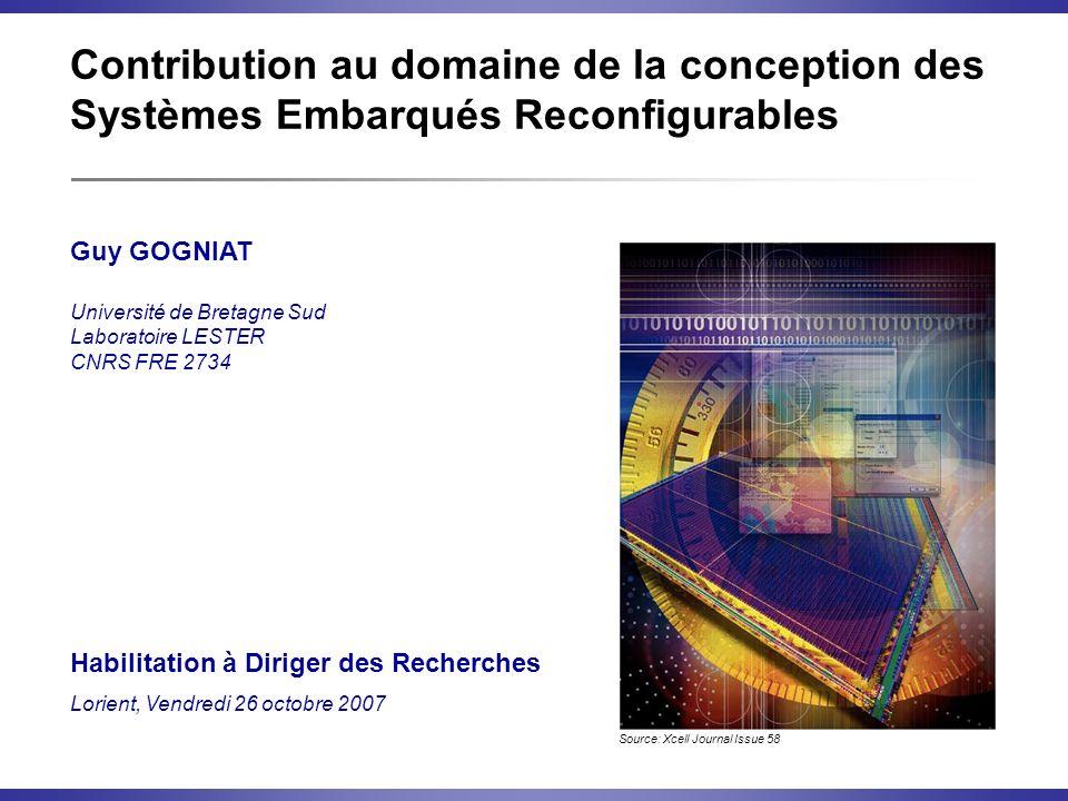 Contribution au domaine de la conception des Systèmes Embarqués Reconfigurables