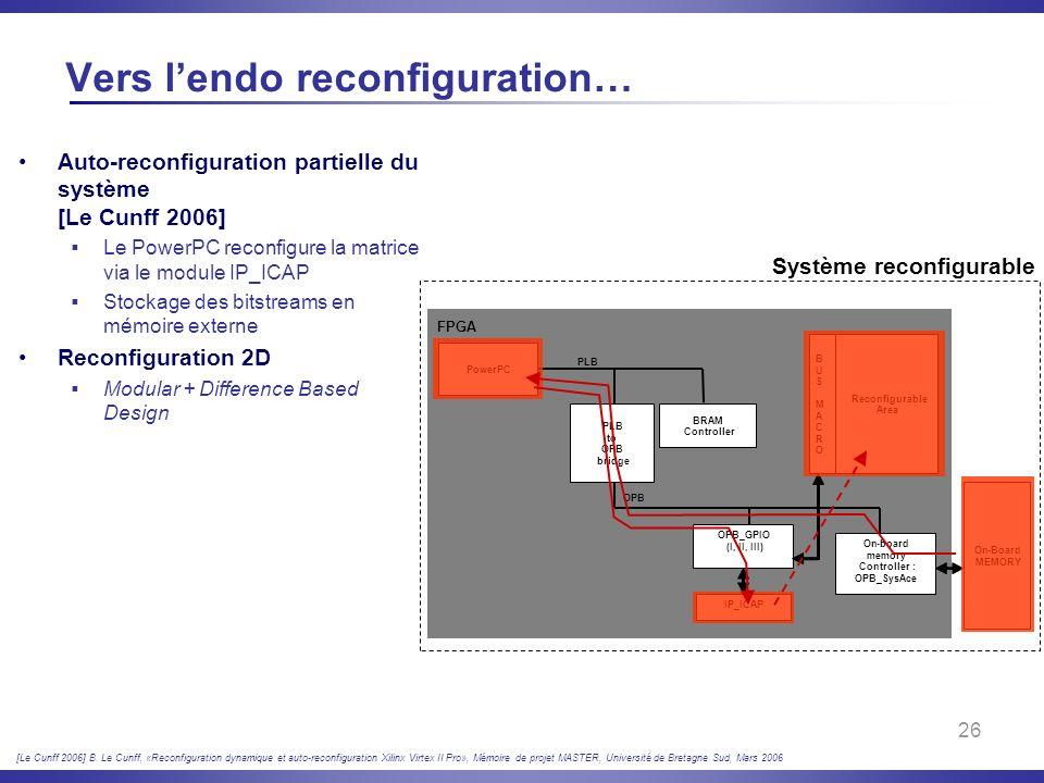 Vers l'endo reconfiguration…