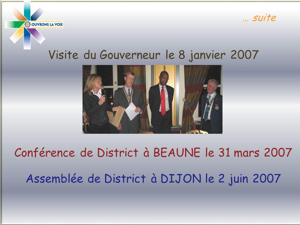 Visite du Gouverneur le 8 janvier 2007