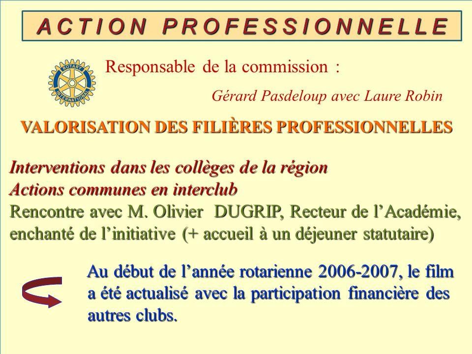 VALORISATION DES FILIÈRES PROFESSIONNELLES