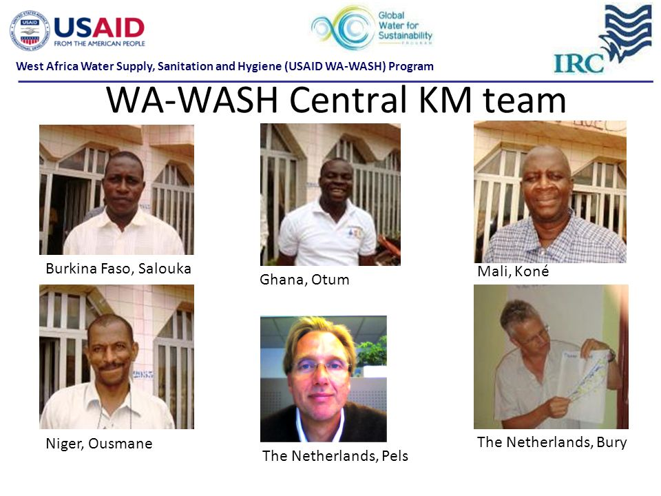 WA-WASH Central KM team