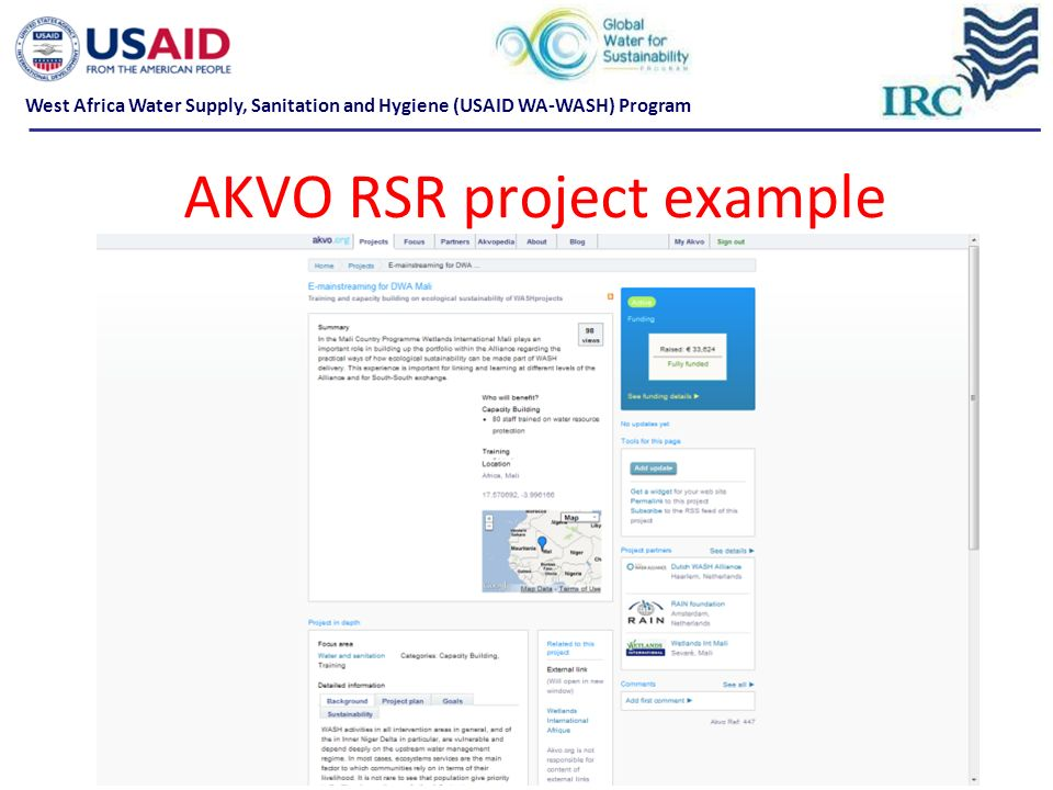 AKVO RSR project example
