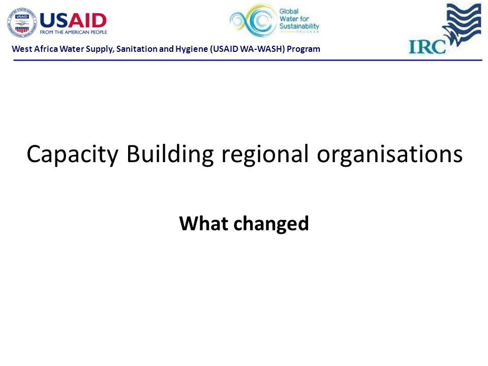 Capacity Building regional organisations