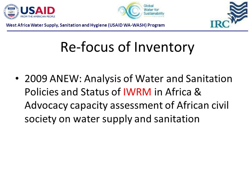 West Africa Water Supply, Sanitation and Hygiene (USAID WA-WASH) Program