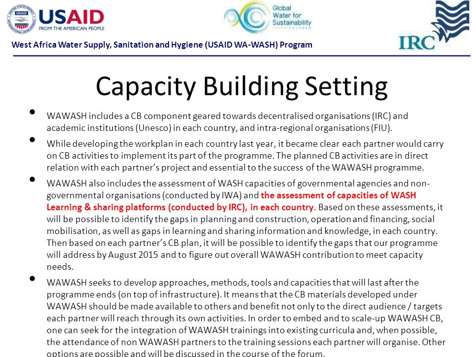 Capacity Building Setting