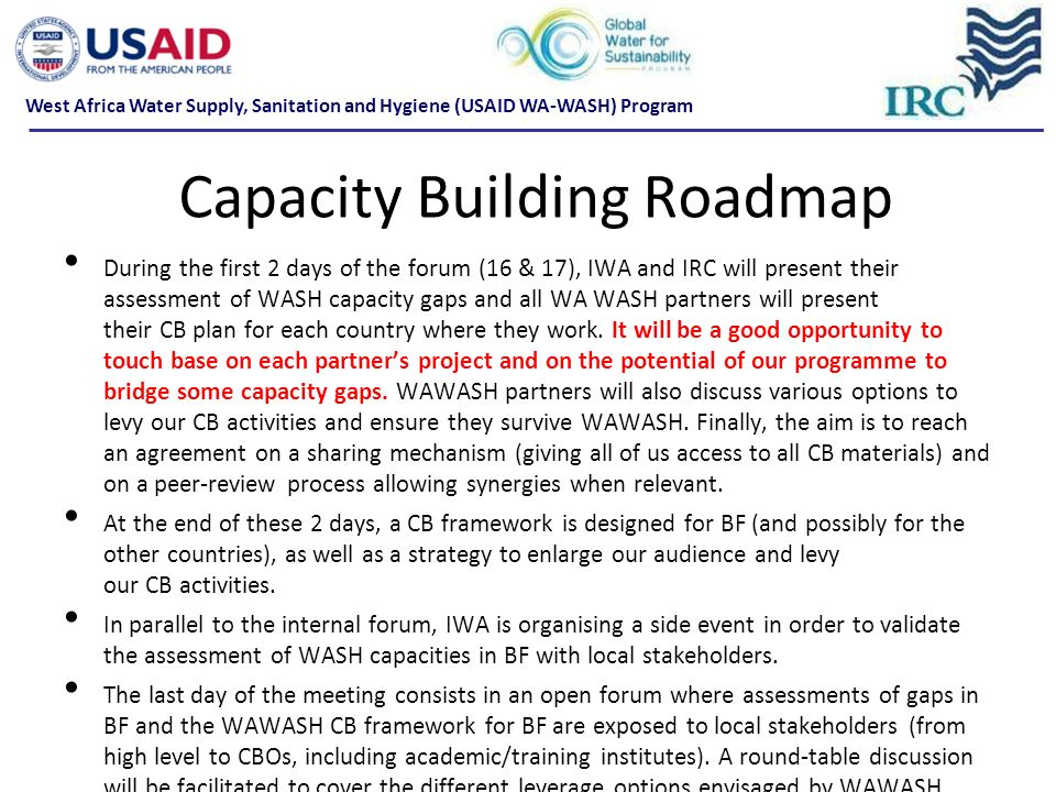 Capacity Building Roadmap