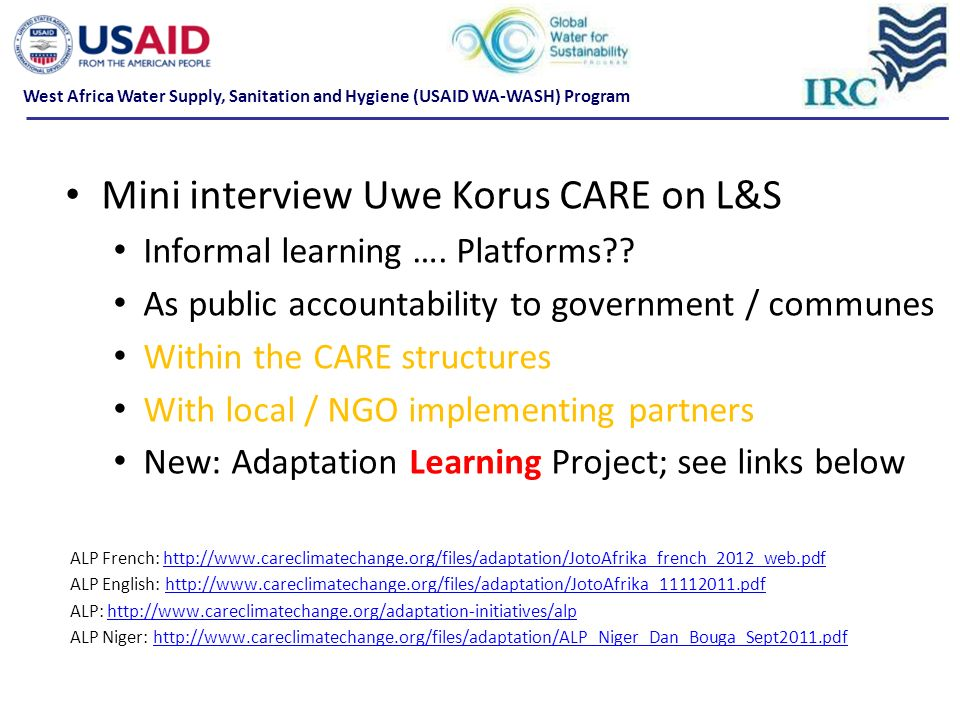 Mini interview Uwe Korus CARE on L&S