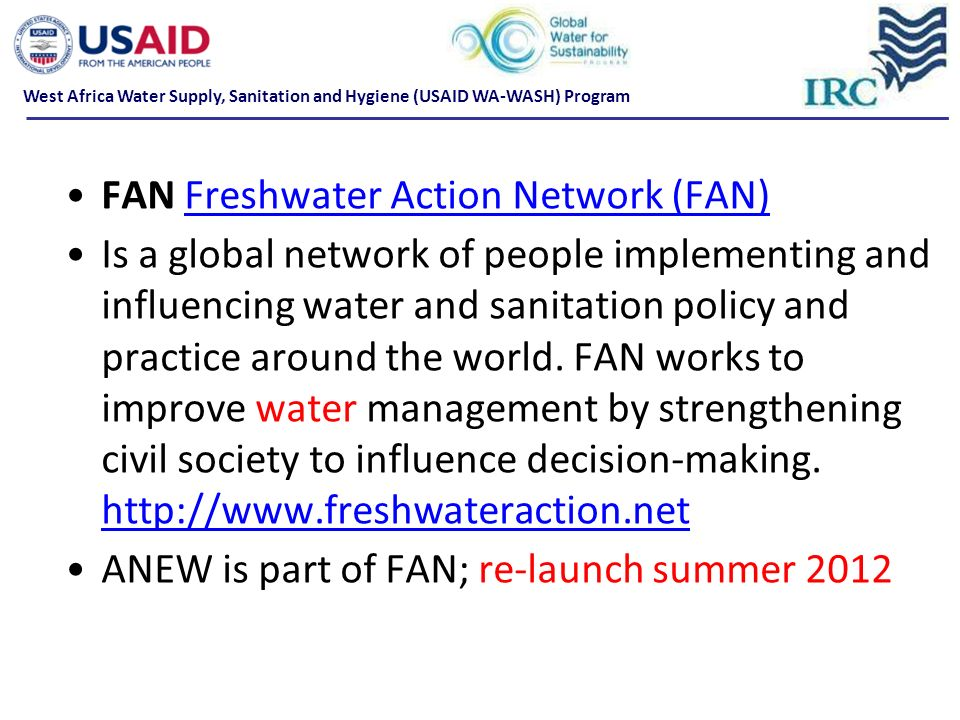 FAN Freshwater Action Network (FAN)