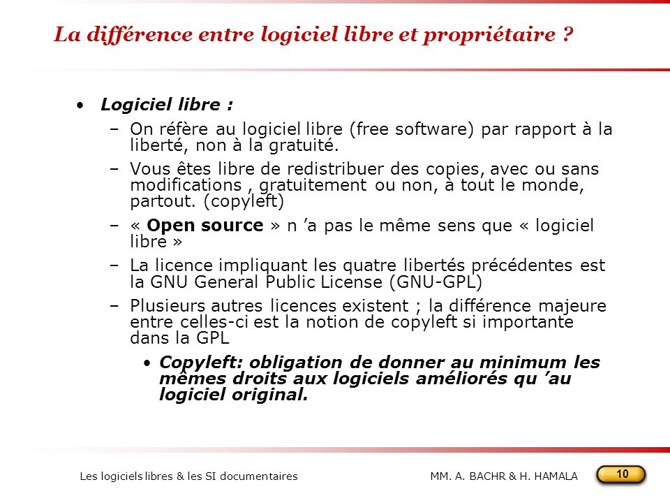 La différence entre logiciel libre et propriétaire