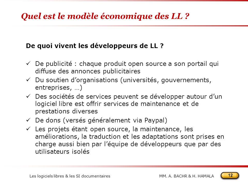 Quel est le modèle économique des LL