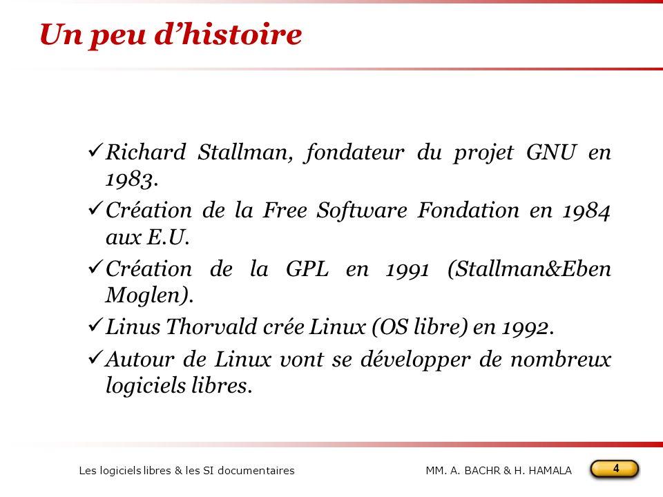 Un peu d'histoire Richard Stallman, fondateur du projet GNU en 1983.