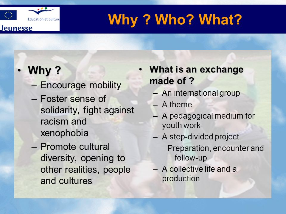 Why Who What Why What is an exchange made of