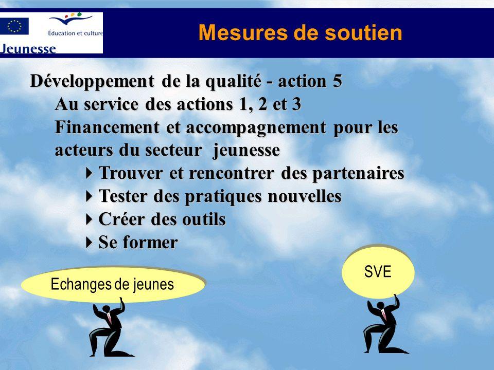 Mesures de soutien Développement de la qualité - action 5