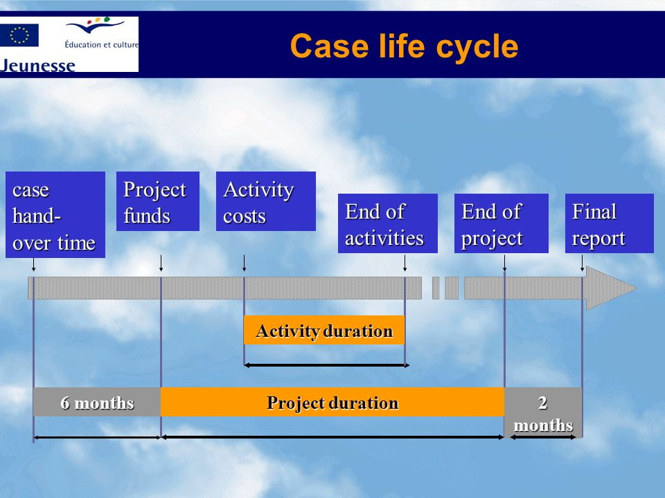 Case life cycle case hand-over time Project funds Activity costs