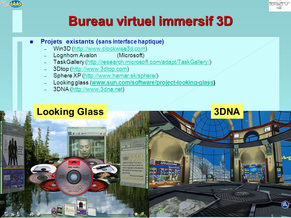 Bureau virtuel immersif 3D