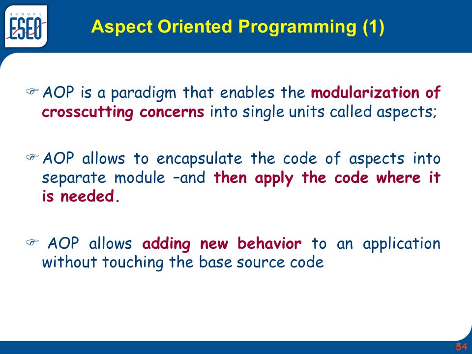 Aspect Oriented Programming (1)