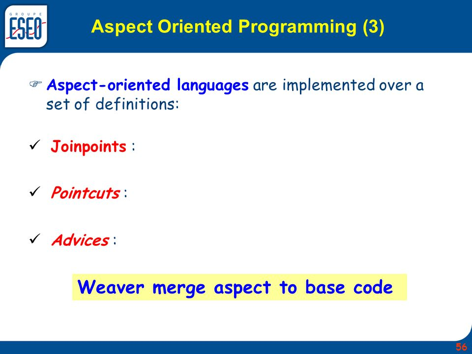 Aspect Oriented Programming (3)