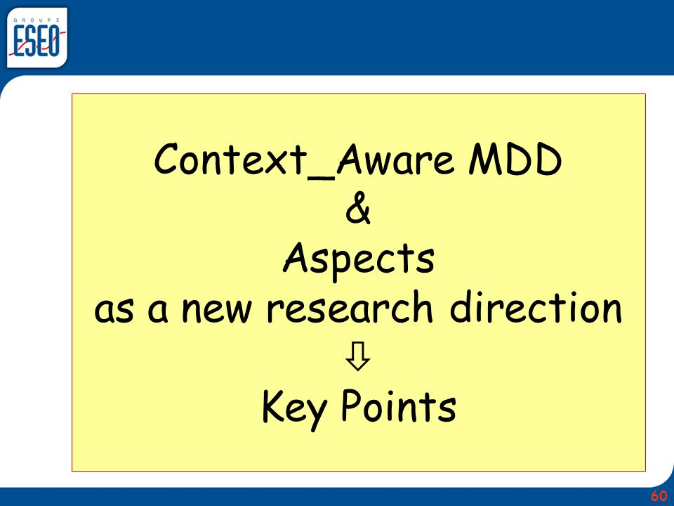Context_Aware MDD & Aspects as a new research direction  Key Points