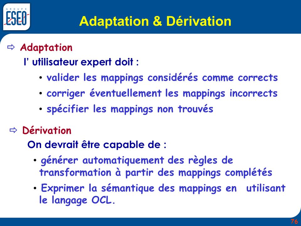 Adaptation & Dérivation