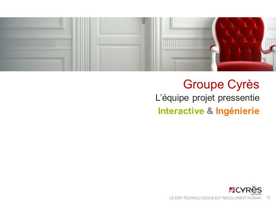 Groupe Cyrès L'équipe projet pressentie Interactive & Ingénierie