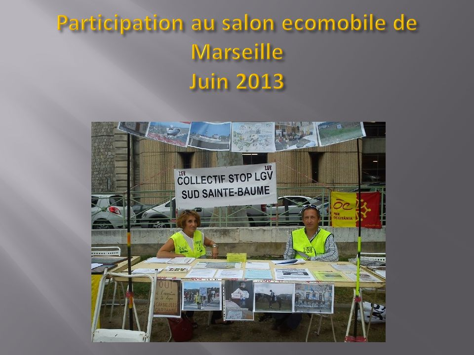 Participation au salon ecomobile de Marseille Juin 2013