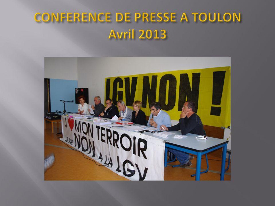 CONFERENCE DE PRESSE A TOULON Avril 2013