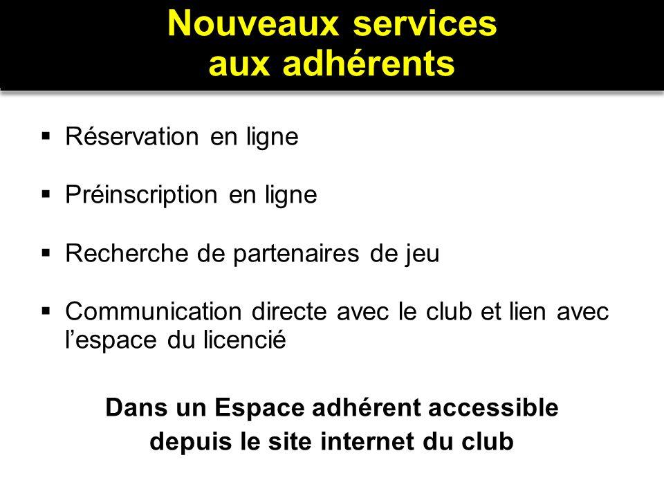 Dans un Espace adhérent accessible depuis le site internet du club