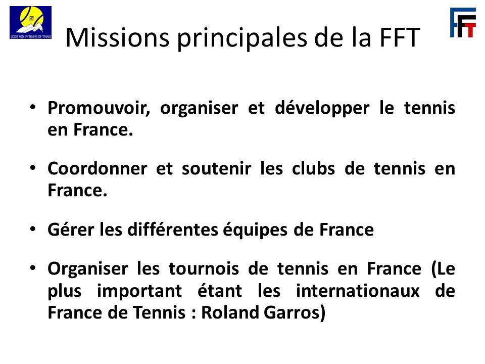 Missions principales de la FFT