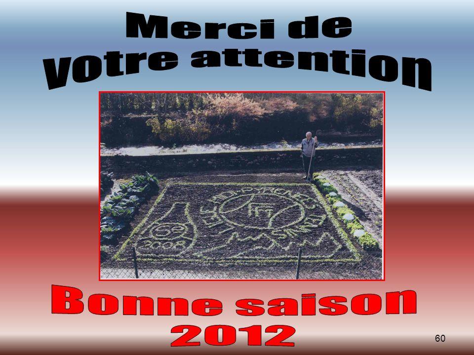 Merci de votre attention Bonne saison 2012