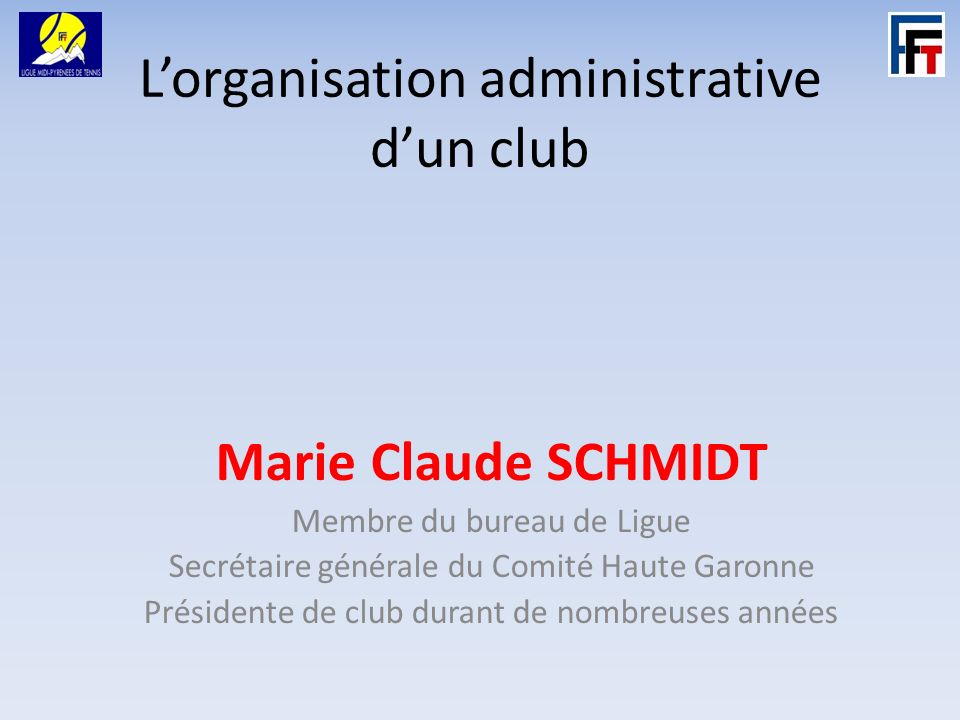 L'organisation administrative d'un club