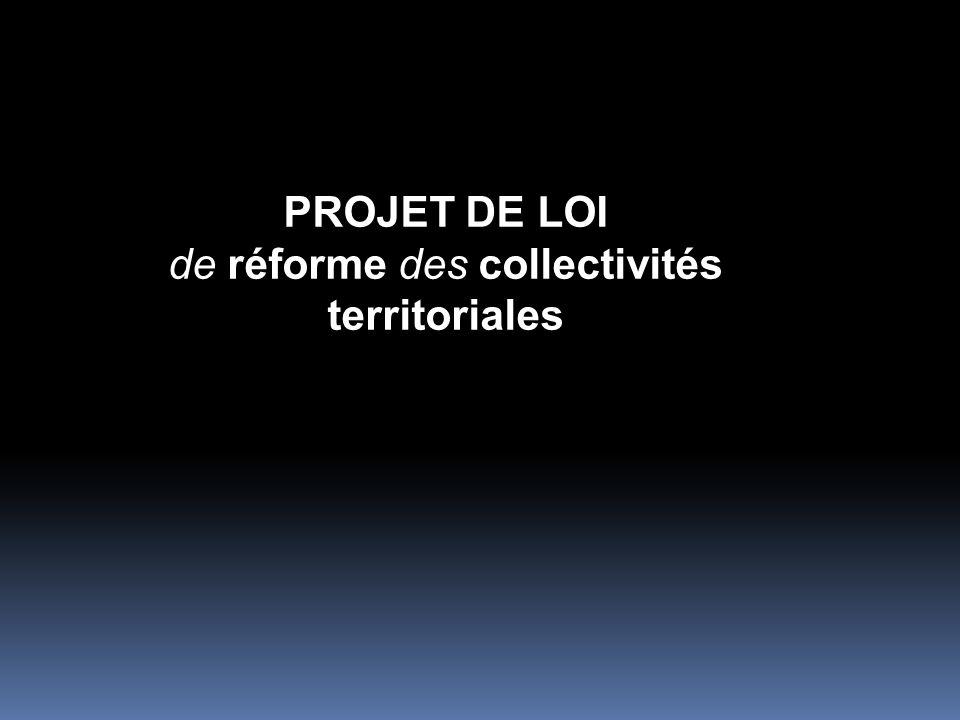 de réforme des collectivités territoriales