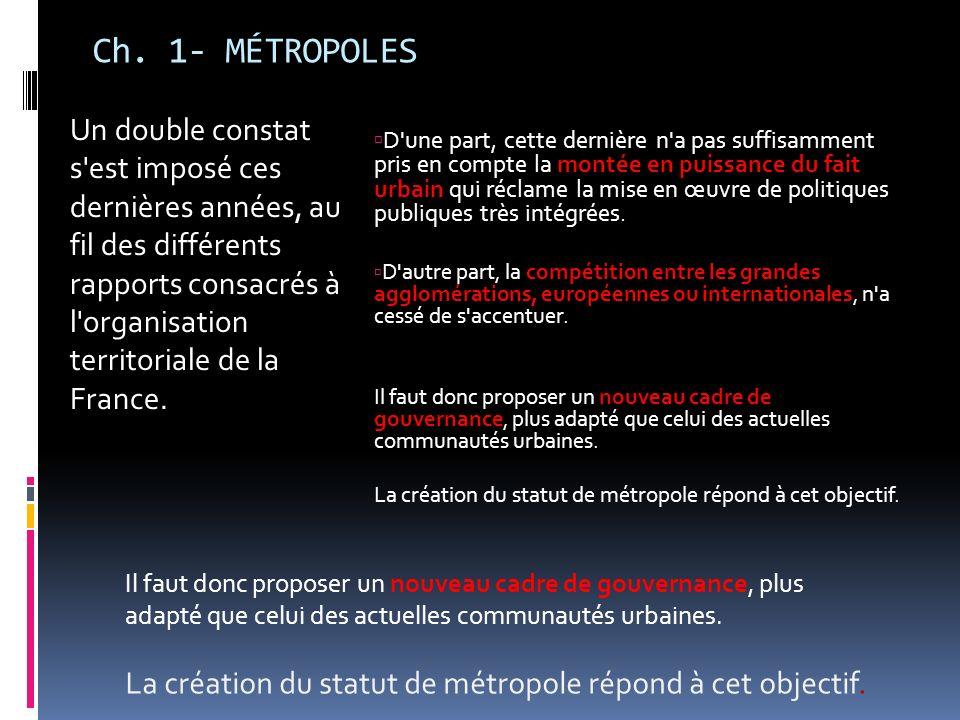 Ch. 1- MÉTROPOLES