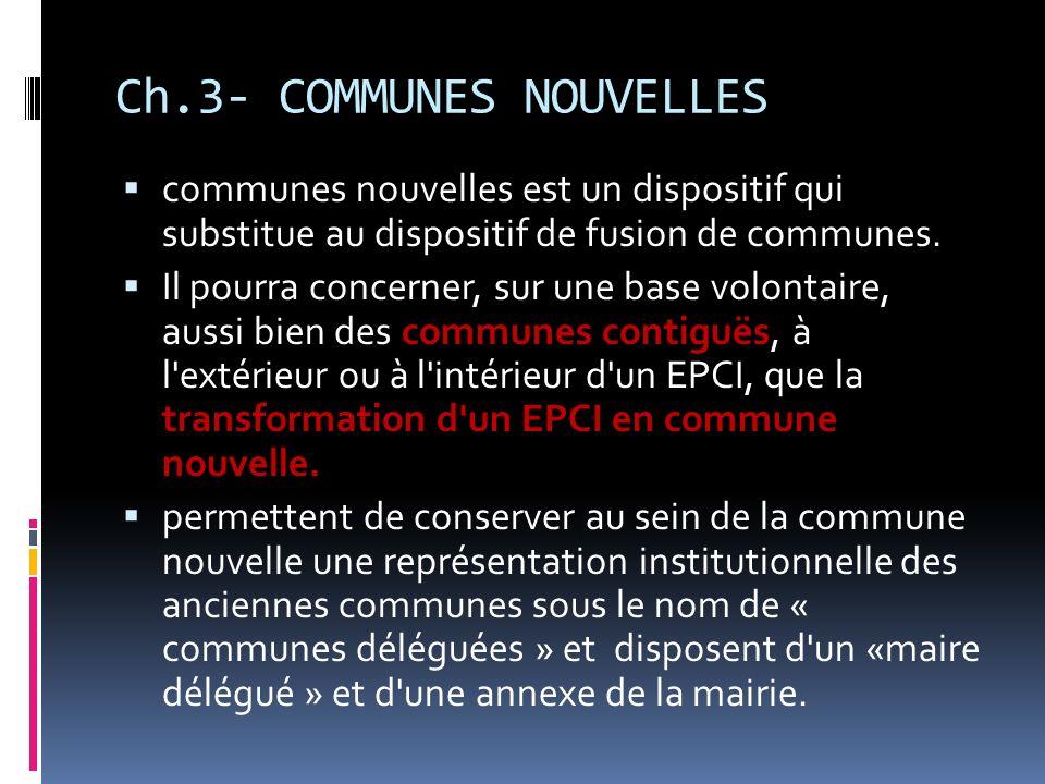 Ch.3- COMMUNES NOUVELLES