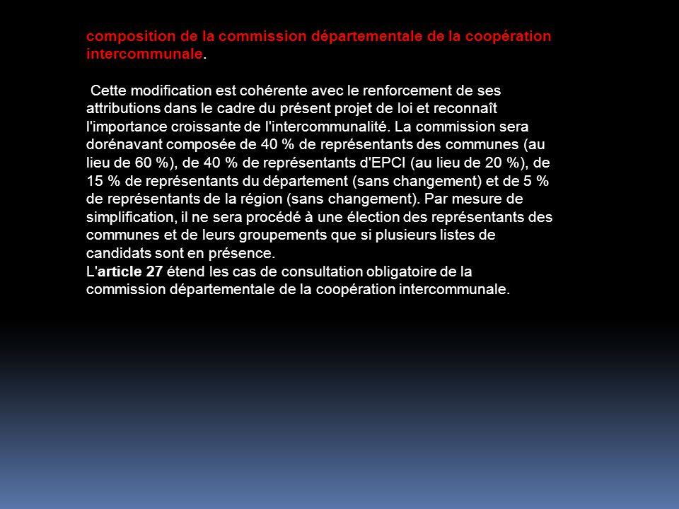 composition de la commission départementale de la coopération intercommunale.