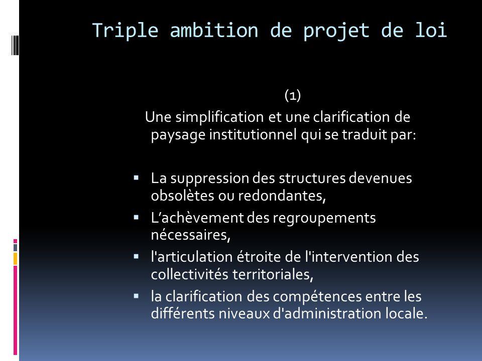 Triple ambition de projet de loi