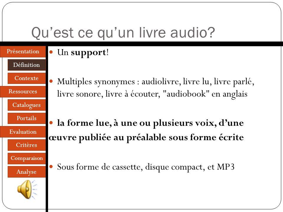 Qu'est ce qu'un livre audio