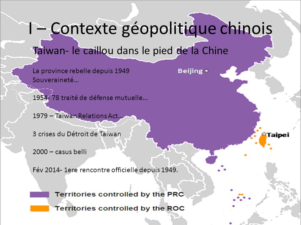 I – Contexte géopolitique chinois
