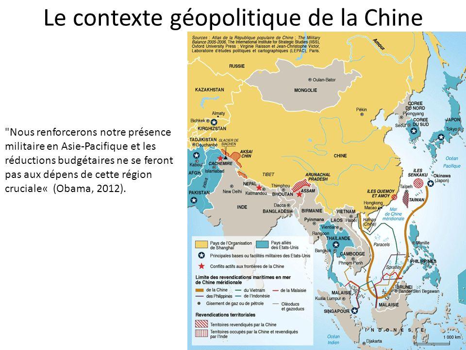Le contexte géopolitique de la Chine